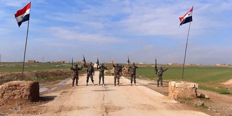 ساکنان یک روستا در حسکه سوریه، مانع عبور تروریست های آمریکایی شدند